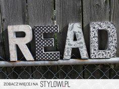 Litery ozdobne/ napisy we wnętrzach | Po zachodzie na Stylowi.pl