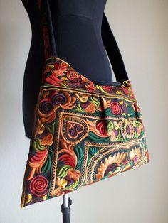 Ethnic handmade bag New fabric Bohemian style Handbags and purses-from Thailand. Fabric Handbags, Fabric Purses, Fabric Bags, Handmade Handbags, Vintage Handbags, Handmade Bags, Handcrafted Gifts, Handmade Shop, Etsy Handmade