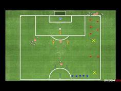 Fútbol: Ejercicio físico-técnico con finalizaciones. - YouTube