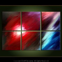 RED COMET - Abstract Art, Sci Fi, Expressionism