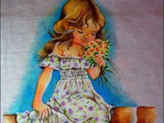 Pintando uma Menina - parte 1/2 - Pintura em Tecido - Painting a Girl - YouTube
