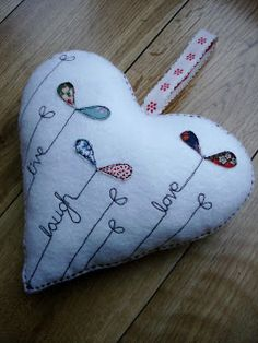 Inspiration....Supercutetilly: Felt Heart...This could be done as a quilt block or part of a larger piece....