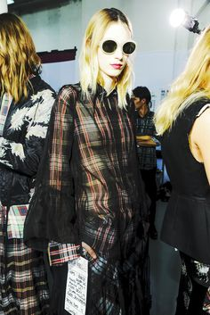 Julia Nobis backstage Dries Van Noten Spring 2013