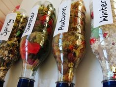 Discovery Bottles- The Four Seasons    I absolutely LOVE these! Will have to make them for my Pre-K Class.