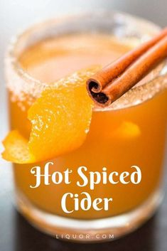 Hot Booze Tip: Spike Your Cider with Spiced Rum - Thanksgiving Drinks Hot Spiced Cider, Spiked Cider, Spiced Rum, Halloween Cocktails, Thanksgiving Cocktails, Thanksgiving Food, Cider Cocktails, Fall Cocktails, Winter Drinks