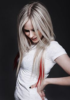 Avril Lavigne. She's so skinny I think she's a vegetarian.