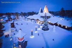 Santa Claus Village and the arctic circle line in Rovaniemi in Finland
