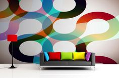 Our 70's Disco Swirl Wall Mural is a retro-chic disco inspired design that sees loads of (dare I say) groovy colors that will turn your home into something a bit more hip! Brilliant colors spanning the whole spectrum will help to give you that feature wall that will turn heads and leave your home looking absolutely amazing.