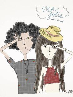 Ma folie - nous aimons.- '16 //  #folie #design #bamboopaper #fashion  #moda #desenho #illustraçao #illustration