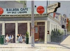 Miho Simunovic - Balboa Cafe- Watercolor - Painting entry - June 2014   BoldBrush Painting Competition