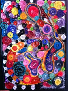 abstract quilling & beads