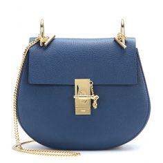 Chloé sac en toile et cuir bleu