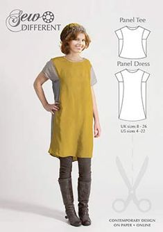 Panel Dress – MULTISIZE SEWING PATTERN – Sew Different