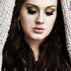 Adele. Makeup attempt I'm going to do for my FB page!