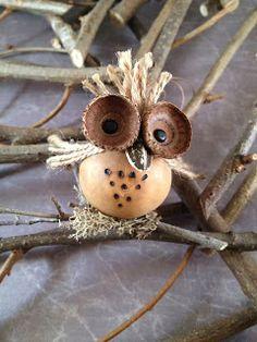 Owl Ornament - Gooseberry Lane Gourds