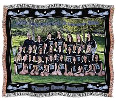 Sports Photo Blanket- high quality personalized blankets for whole Lacrosse team