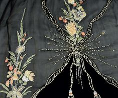 GUSTAVE BEER PARIS EMBROIDERED and BEADED GOWN, c. 1905