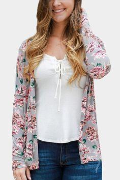 89b2907ee7 Autumn Women Casual Outwear Boho Irregular Long Sleeve Wrap Cardigans Loose  Floral Print Basic Coats Tops Plus Size Jackets