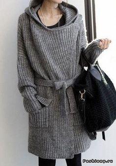 Связано,с любовью.Подборка образов Mantel, Belted Cardigan, Hooded Cardigan, Long Knit Cardigan, Poncho, Grey Cardigan, Autumn Winter Fashion, Winter Wear, Knit Fashion