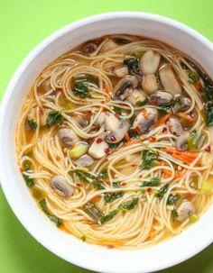 Thai noodle soup. Tis is very easy and better than take out. #Thaifood #soup #cleaneating