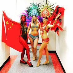 Human Statue Bodyart: Olympic China Bodypainting