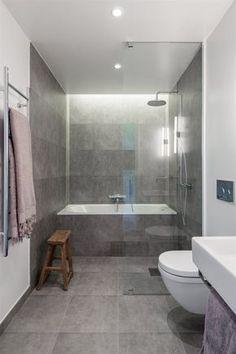Turn Your Attic into the Bathroom of Your Dreams Today - Attic Basement Ideas Bathroom Tub Shower, Baby Bathroom, Attic Bathroom, Upstairs Bathrooms, Family Bathroom, Bathroom Inspo, Bathroom Renos, Grey Bathrooms, Laundry In Bathroom
