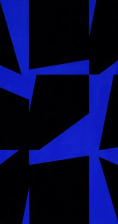 Ralph Coburn, American b. 1923 Black and Blue, c. 1955 Oil on Canvas, 60 x 32""