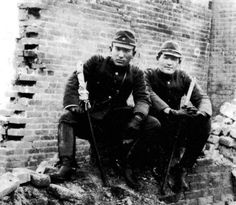 japanese officers in the ruins of shanghai (november 1937)