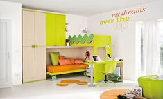 Colorful Children Bedroom for Creative Children's Growing Experience : Fresh Kids Bedroom With Bunk Bed Furniture