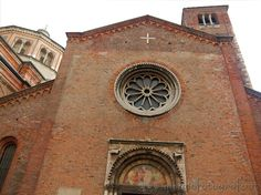 Facade of the Church of San Celso in Milan (Italy)