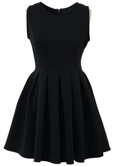 Favored Sleeveless Skater Dress in Black - Party - Dress - Retro, Indie and Unique Fashion