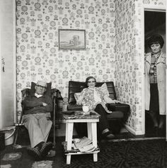 Chairs Stanley and Margaret Wilson, daughter Jean Barrow, St Lawrence Square, 1980 - Byker - Photography - Amber Online