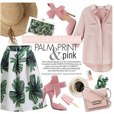 Tropical getaway by punnky on Polyvore featuring mode, French Connection, Charlotte Olympia, Flora Bella, Milly and Christian Dior