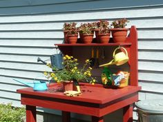 41 Awesome Potting Stations For Every Gardener   Shelterness - Everyone needs a potting area to keep all your needs at hand.