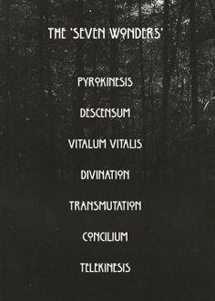 The Seven Wonders #AHS #Coven ❤️❤️❤️❤️❤️❤️❤️