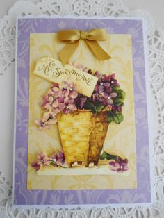 Vintage style Valentine's Card by picocrafts on Etsy, $3.50