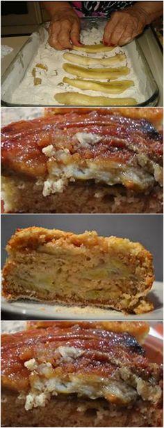 PARA QUEM GOSTA DE BANANA,ESSA RECEITA E SUPER FÁCIL E DELICIOSA!! VEJA AQUI>>>Para a farofa, misture numa vasilha o trigo, o açúcar, e o fermento, reserve Derreta a margarina, acrescente o leite e os ovos, mexa bem #receita#bolo#torta#doce#sobremesa#aniversario#pudim#mousse#pave#Cheesecake#chocolate#confeitaria