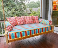 House of Turquoise: Cindy Mihuc of GDC Home   porch swing
