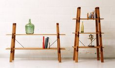 A set of Tyler Hays designed affordable bookshelves for a new company called Lostine.  Typically, the unaffordable work of BDDW, is deemed as elitist.  Nice to see a stylish, collapsible product made of superior quality materials hit the midrange price market.