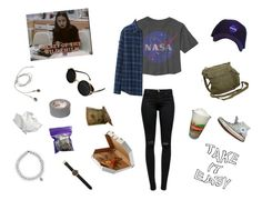 """""""NASA"""" by itskoda on Polyvore featuring J Brand, Uniqlo, GAS Jeans, Topshop, Converse, INC International Concepts, OUTRAGE and Tsovet"""
