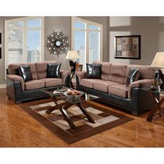 Famous Snows Furniture Providing the Stylish Furnishings: Amazing Grey And White Living Room Interior With Pink Brown Sectional Sofa And Lov. Living Room Grey, Living Room Sets, Living Room Interior, Living Room Designs, Living Room Furniture, Living Room Decor, Brown Sectional Sofa, Sofa And Loveseat Set, Brown Sofa