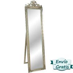 Espejo vintage de pie Luis XV Plata