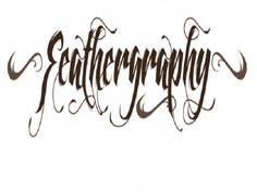 Cool Tattoo Fonts: Feathergraphy Decoration Font Tattoo By Mans Greback ~ Tattoo Ideas Inspiration Best Tattoo Fonts, Font Tattoo, Tattoo Art, Unique Tattoos, Cool Tattoos, Art Therapy Projects, Diy Crafts For Gifts, Bath And Beyond Coupon, Healthy Snacks For Diabetics