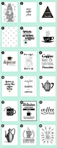 180+ Coffee Free Printables: The Ultimate Guide • Little Gold Pixel • Find the motherlode of curated coffee printables here. via @4vector