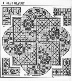 Crochet And Arts: Filet Crochet Wipes Filet Crochet Charts, Crochet Stitches Patterns, Doily Patterns, Thread Crochet, Crochet Motif, Irish Crochet, Crochet Designs, Stitch Patterns, Knitting Patterns