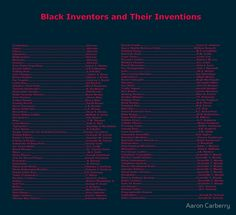 Black Inventors and Their Inventions by Aaron Carberry
