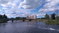 Bridge over Kalajoki at Ylivieska.  #river #ylivieska #houses #buildings #water #bridge #beautiful #view #finland #suomi #travel #summer