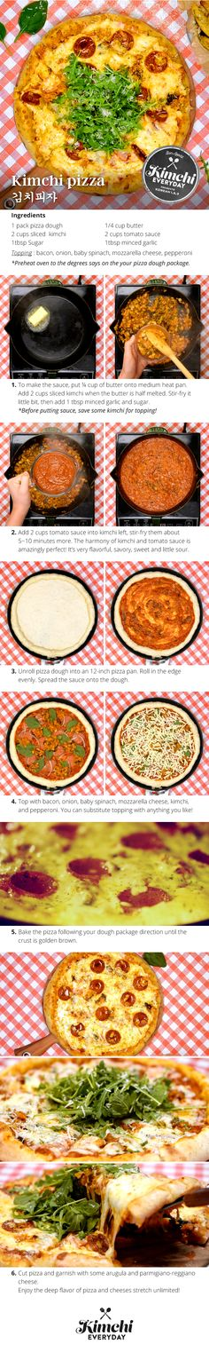 Give pizza pizzazz to prove Kimchi does go great with everything. Let's try it on PIZZA!