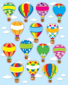 Carson Dellosa Education Hot Air Balloons Shape Stickers - Perfect For Reward Or Recognition, Each Pack Of These Acid-free And Lignin-free Includes 84 Stickers! Available In A Wide Variety Colors Shapes, Are An Essential Addition To Any Teacher& Desk! Birthday Bulletin, Birthday Board, Ballon Decorations, Birthday Charts, Carson Dellosa, Air Ballon, Balloon Shapes, Classroom Themes, Hot Air Balloon Classroom Theme