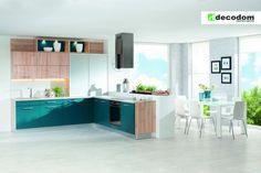 Kuchyňa ESTER - Buk Iconic / Petrol [Kitchen ESTER - Beech Iconic / Petrol]